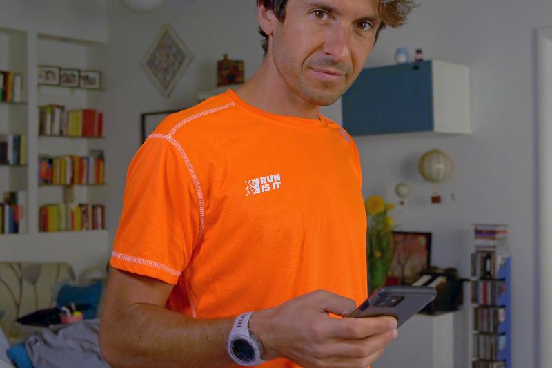 Maglia Run Is It Arancio